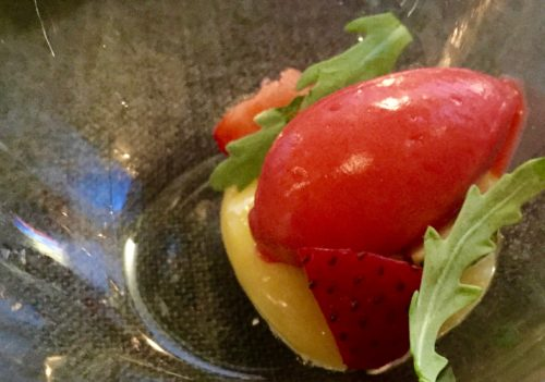 strawberry sorbet at sons and daughters