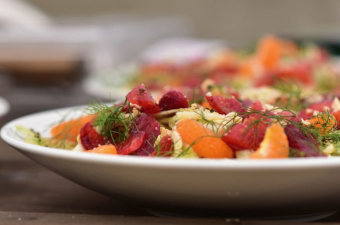 citrus salad with marcona almonds